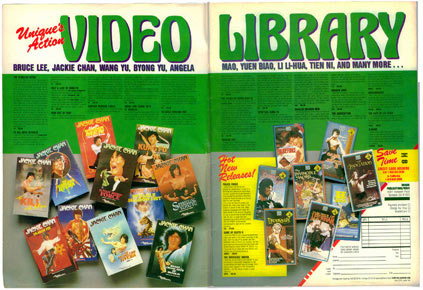 Unique Video Library Jackie Chan VHS Sale Advertisement
