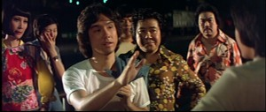 "Scene from Robert Lee's 1977 Golden Harvest film ""Lady Killers."" Note Lee Kwan (""The Big Boss"") and Gam Dai (""Way of the Dragon"") in the background."