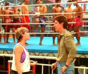 "Cynthia Rothrock and Loren Avedon in ""No Retreat, No Surrender II"""