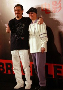 "Robert Lee and Phoebe Lee (Bruce's sister) promoting the 2010 bio-film, ""Bruce Lee, My Brother"""