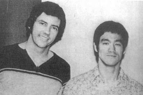 Bob Wall with Bruce Lee.