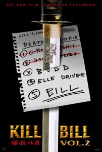"""Kill Bill Vol. 2"" American Theatrical Poster"
