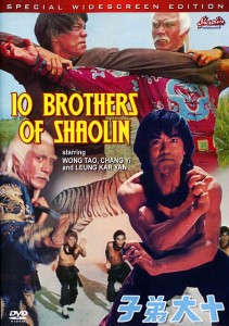 """10 Brothers of Shaolin"" American DVD Cover"