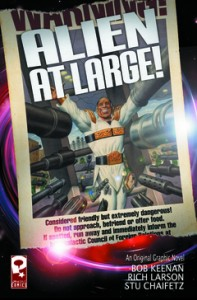 "Bob Keenan's comic ""Alien At Large"""