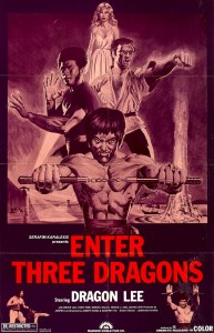 """""""Enter Three Dragons"""" American Theatrical Poster"""