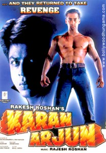 "1995's ""Karan Arjun"" is one of the films being presented."