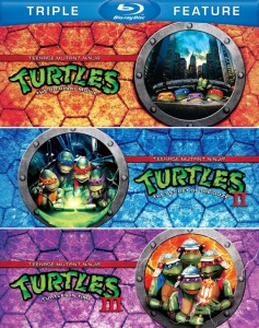"""Teenage Mutant Ninja Turtles Trilogy"" Blu-ray Cover"