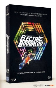 """Electric Boogaloo: The Wild, Untold Story of Cannon Films"" Teaser Poster"