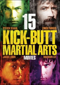15 Kick-Butt Martial Arts Movies 3-Disc DVD Set (Echo Bridge)