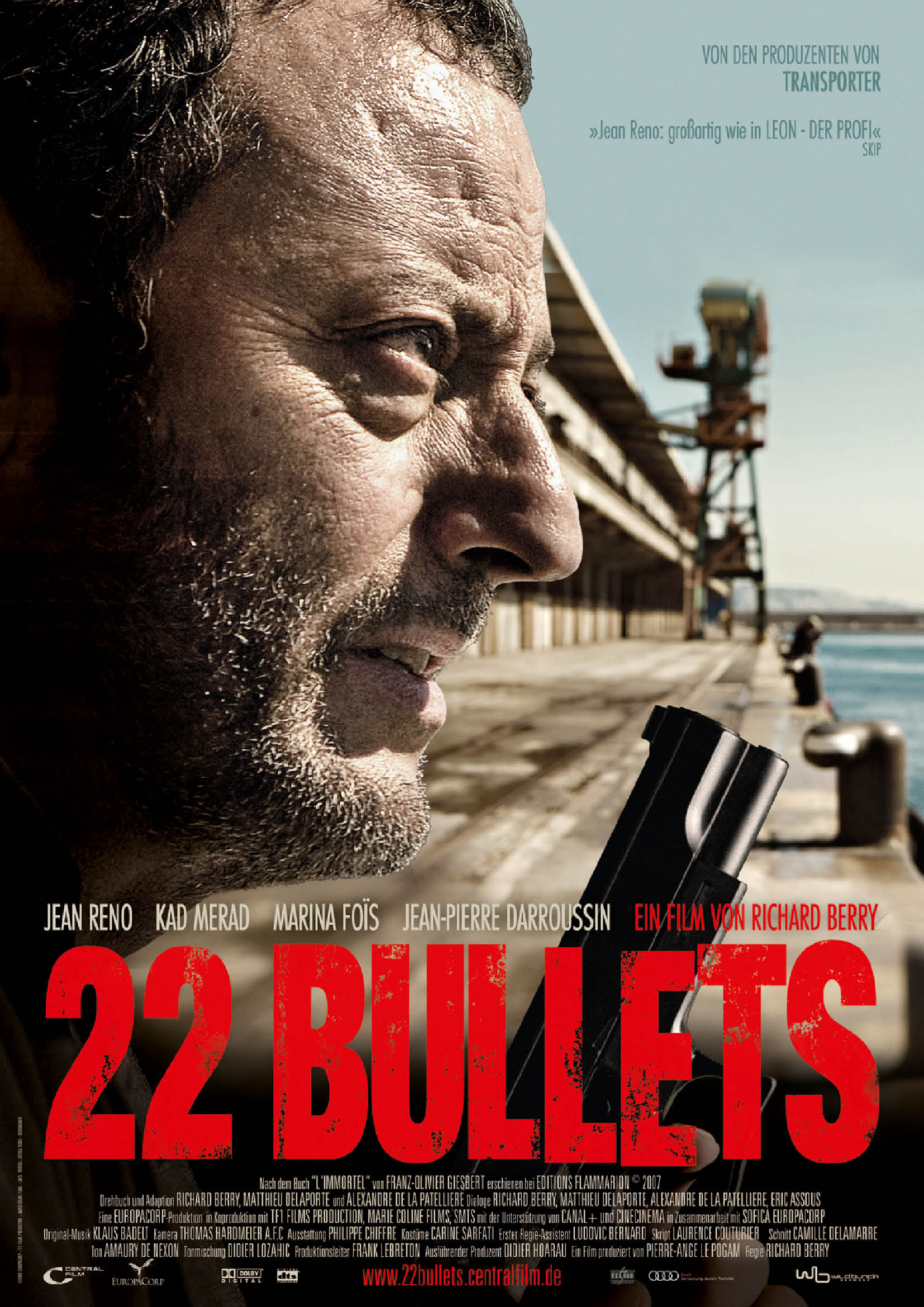 """22 French Tip Nail Art Designs Ideas: """"22 Bullets"""" French Theatrical Poster"""