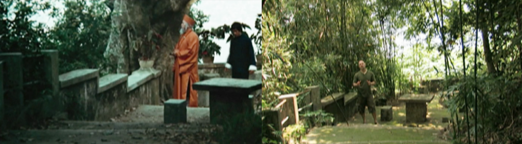 "The location where Bruce and Roy Chiao exchange words in ""Enter the Dragon"" remains the same."