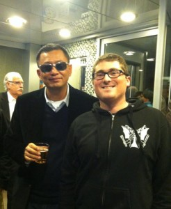 Wong Kar Wai and author, Ghost Dragon Triad.