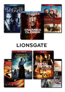 Lionsgate's action and martial arts line up.