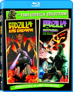 """Godzilla Vs. King Ghidorah / Godzilla Vs. Mothra"" Blu-ray Cover"