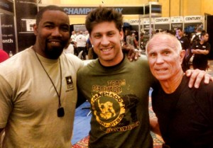 Moussi with Michael Jai White and Bill Wallace.