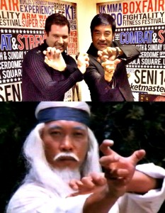 Paul Bramhall and Hwang Jang Lee emulating a trademark style.
