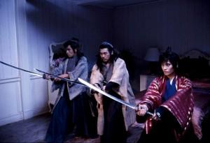 "Yasuaki Kurata, Hwang Jang Lee and Yukari Oshima in ""Shanghai Express."""