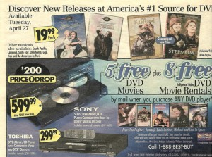 1999 Flashback! Special DVD deals from that year.