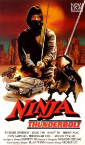 """Ninja Thunderbolt"" VHS Cover"