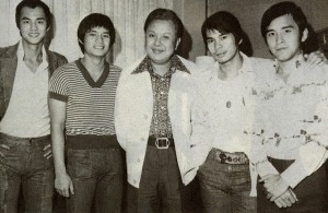 David Chiang, Fu Sheng, Chang Cheh, Chen Kuan-Tai and David Chiang.
