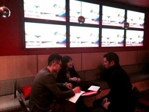 David Park, Shin Su-won and author, Paul Bramhall.