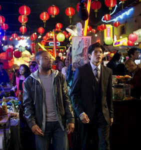 "Justin Hires and Jon Foo in the ""Rush Hour"" TV series."