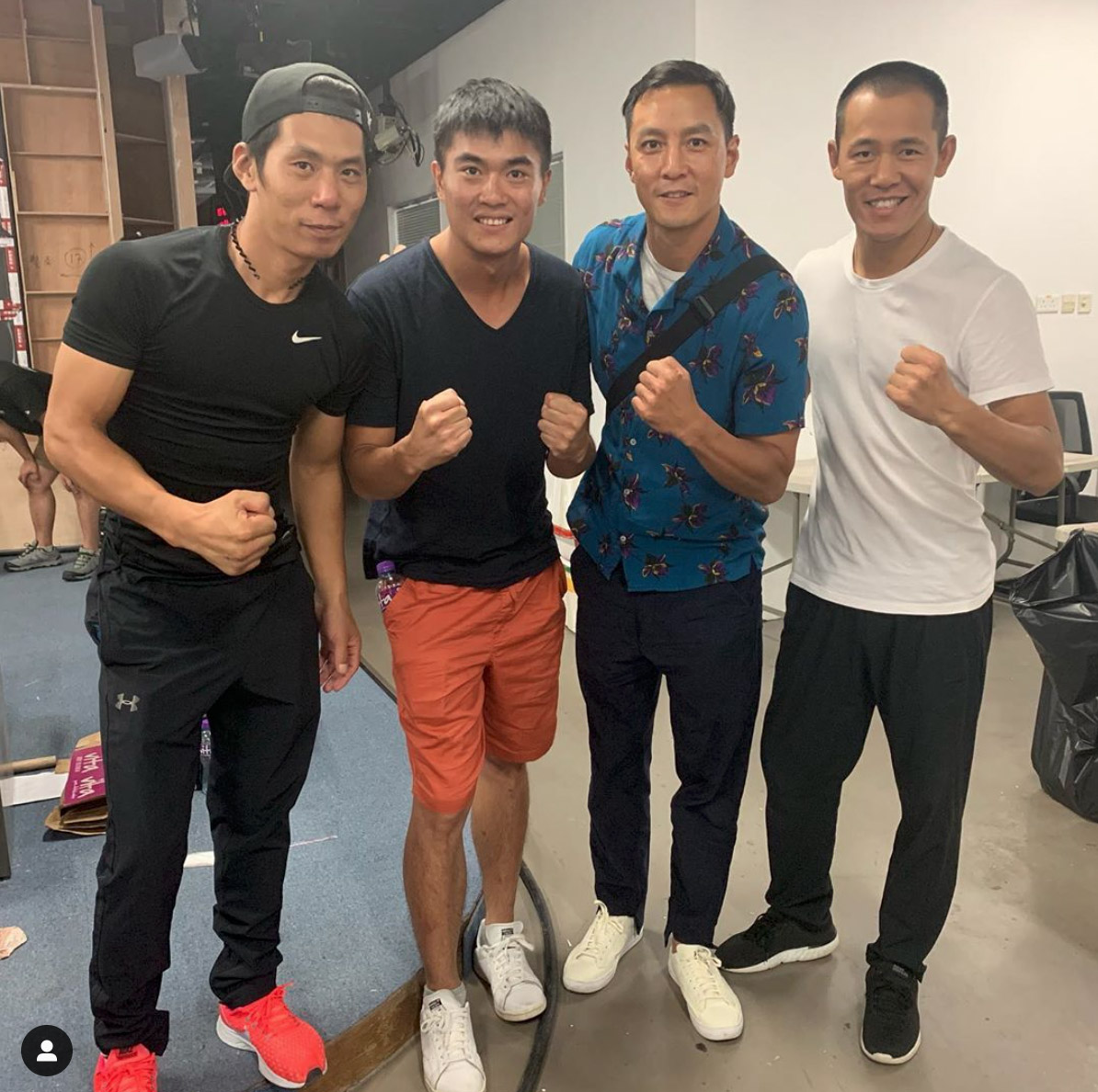 "Daniel Wu with his stunt buddies from ""Into the Badlands"""